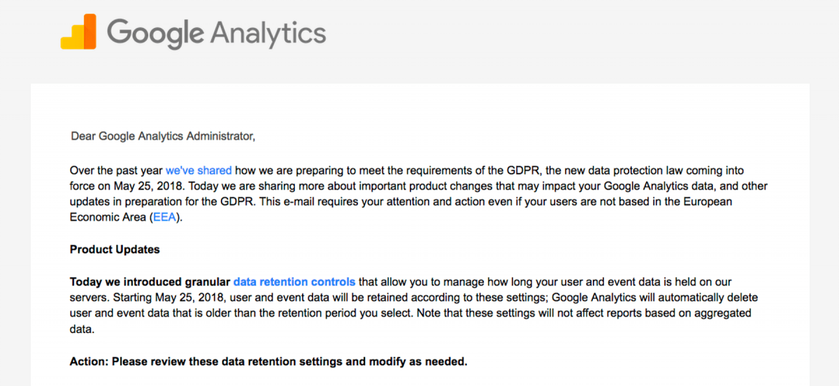 Google Analytics Privacy Notice