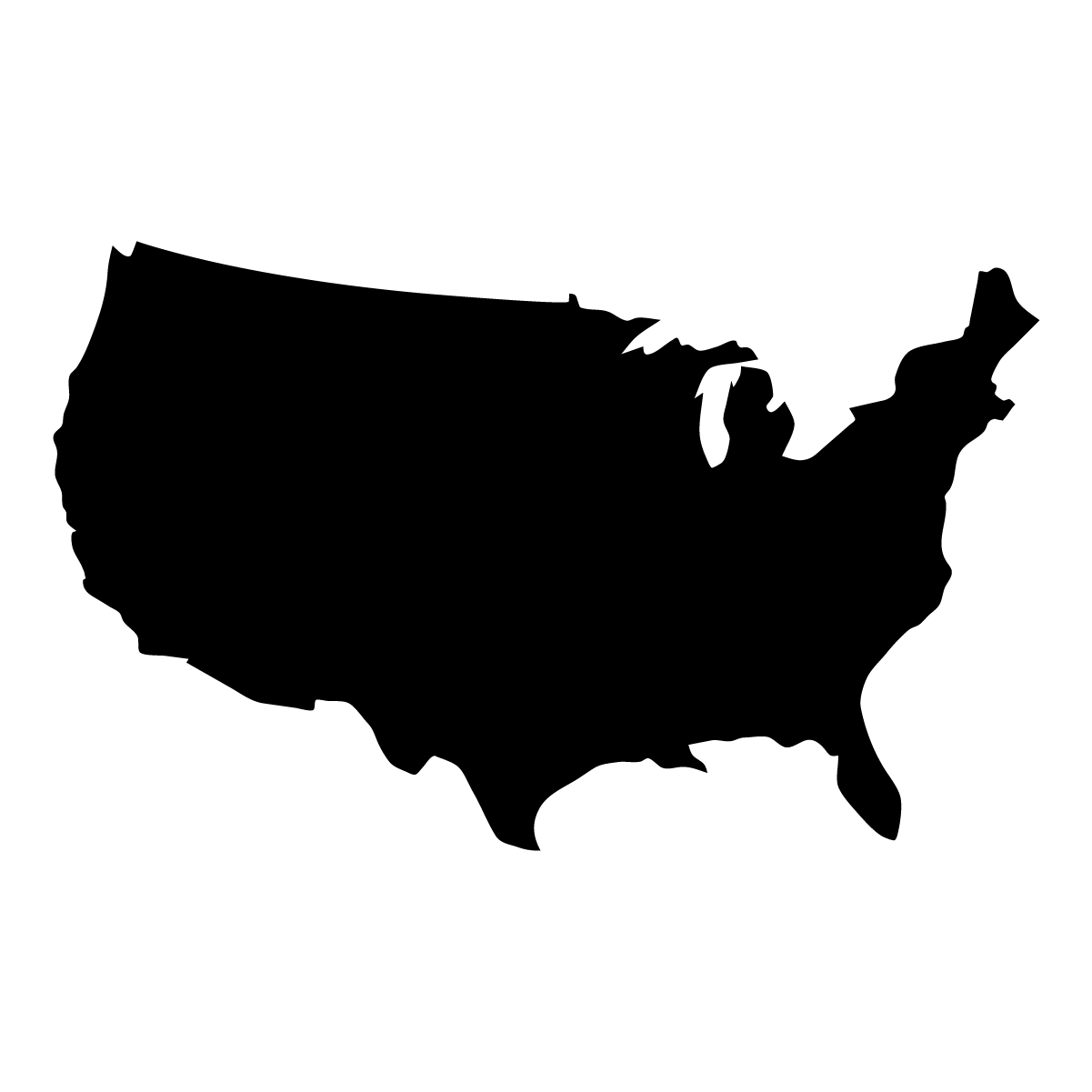 National Map of United States Icon