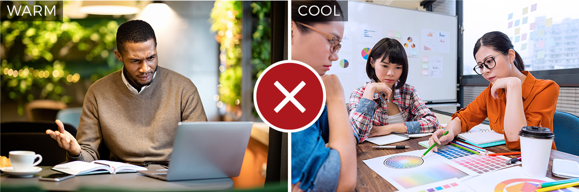 Stock image warm vs cool temperature example