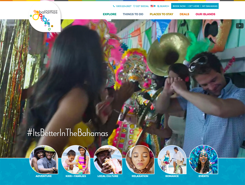 Bahamas.com - Top Travel & Tourism Website Design Example Using Drupal