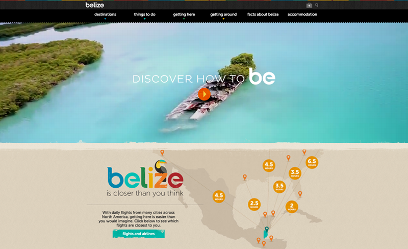 Belize - Top Travel & Tourism Website Design Example