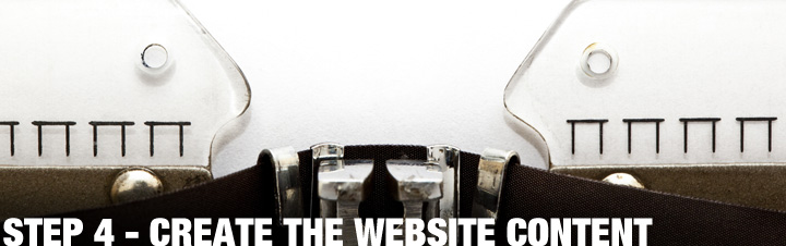 STEP 4 - Create The Website Content