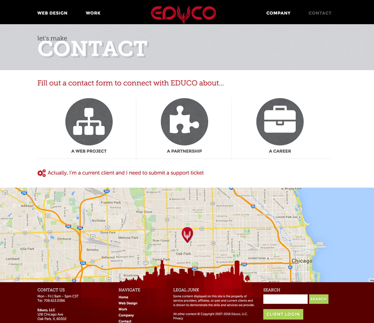 EDUCO: Best Chicago Web Design Firm with a Well Designed Lead Generation Contact Experience