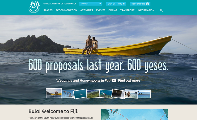 Fiji - Top Travel & Tourism Website Design Example