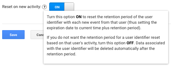 Google Analytics Data Processing and Retention Control Settings