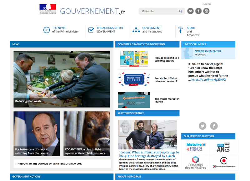government Website build with drupal cms