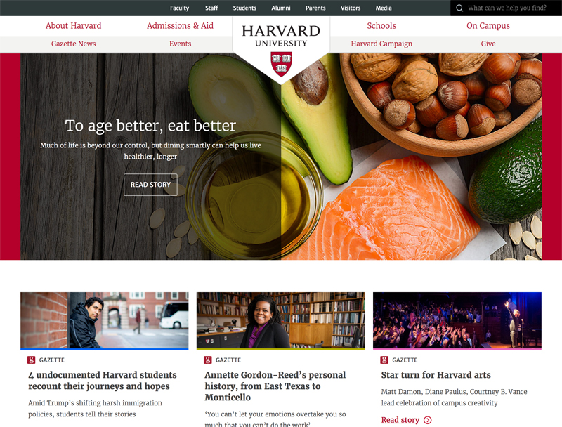 Harvard University Popular Higher Learning Site Using Drupal