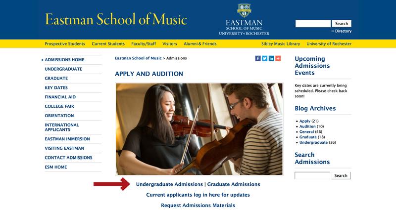 Admissions - Eastman School of Music