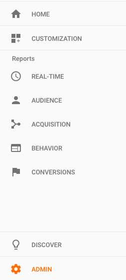 Admin Panel in Google Analytics for Managing Users