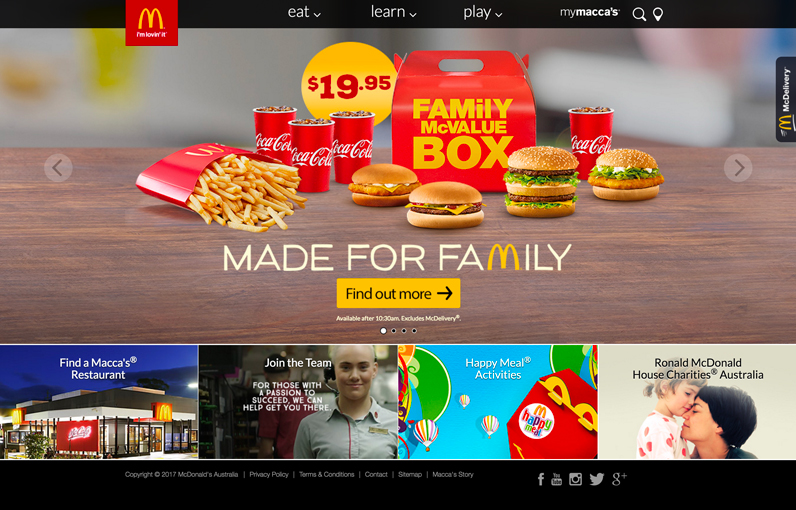 McDonalds Australia - Using Drupal For their Marketing Website