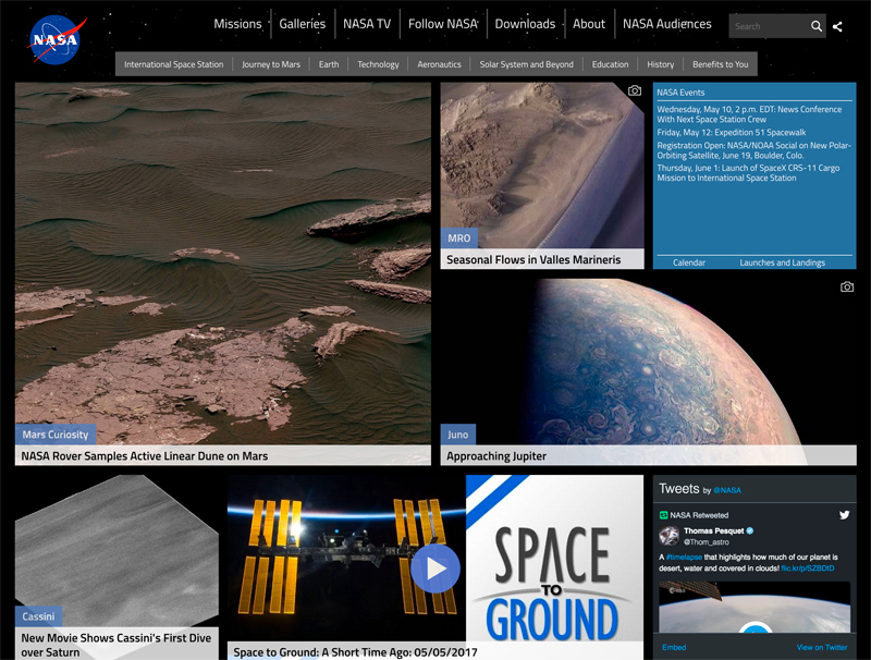 NASA Uses Drupal for their Website