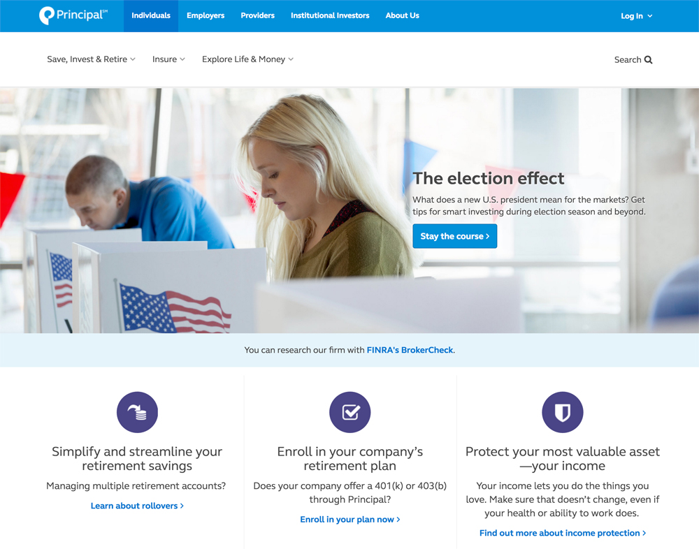 Principal Financial Company & Drupal Banking Website Example