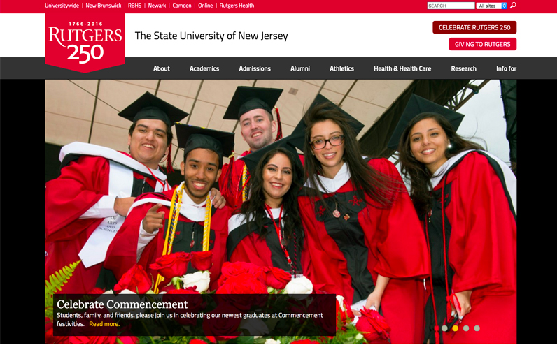 Rutgers State University of New Jersey - Higher Learning Site Using Drupal