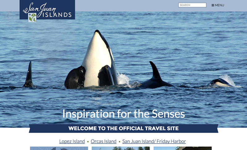 San Juan Islands - Top Travel & Tourism Website Design Example