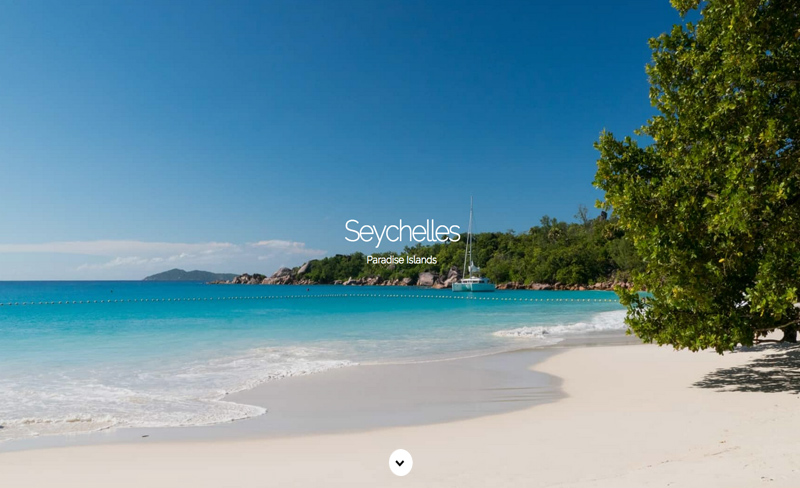 Seychelles Paradise Island - Top Travel & Tourism Website Design Example Using Drupal