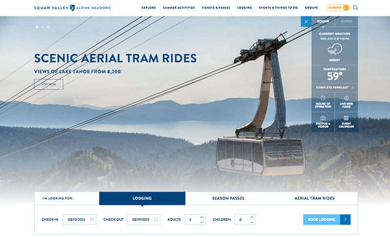 Squaw Valley - Top Travel & Tourism Website Design Example