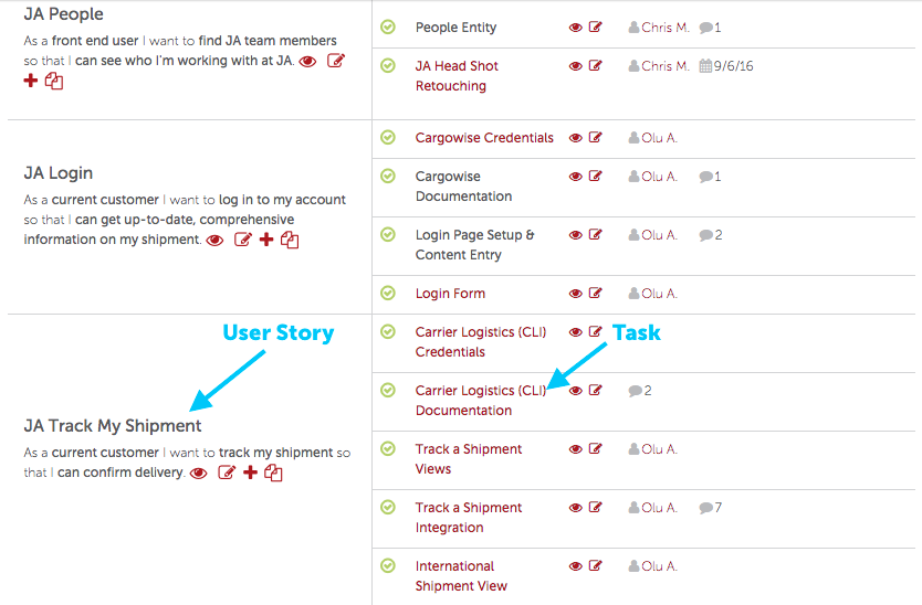 Agile User Story Example