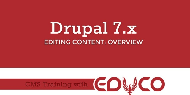 Drupal Training Editing Content