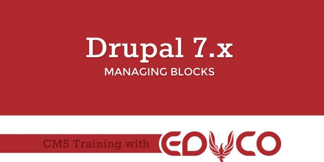 Drupal Tutorial - Managing Blocks