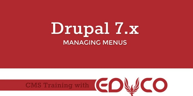Drupal Tutorial - Managing Menus
