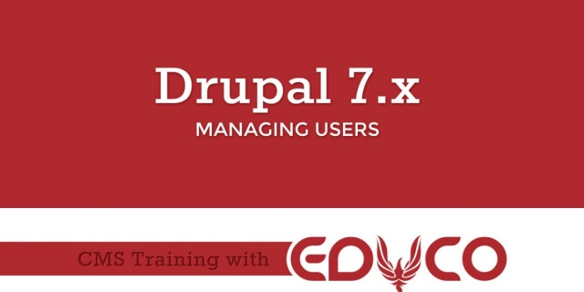 Drupal Tutorial - Managing Users