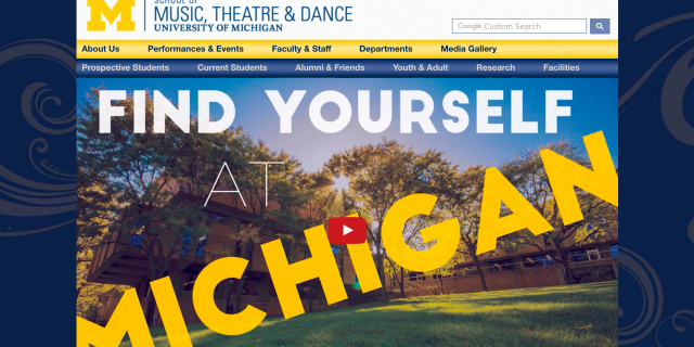 University of Michigan College of Music Website Application Experience