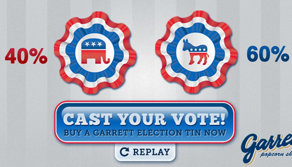 Garrett Popcorn Election Tin Web Promotion Project