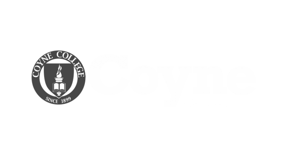 Coyne College Logo White