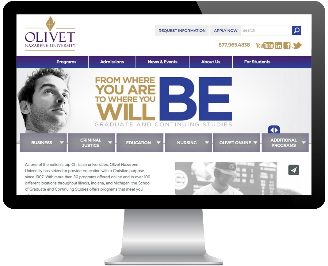 Olivet Nazarene University Screenshot