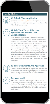 Turbo Title Loan Screenshot