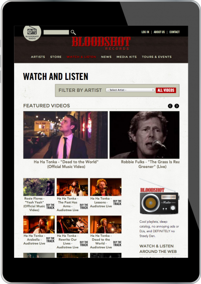 Bloodshot Records Screenshot