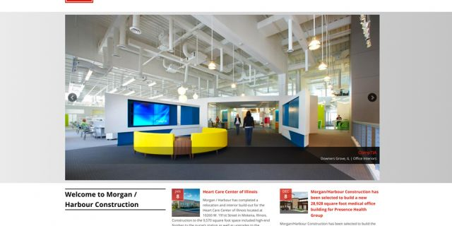 Morgan Harbour Chicago Construction Drupal Website Redesign Example