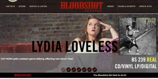 Bloodshot Music Label eCommerce Website Redesign