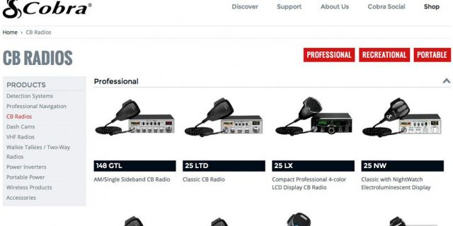 Cobra Electronics: Custom eCommerce Website Redesign Example