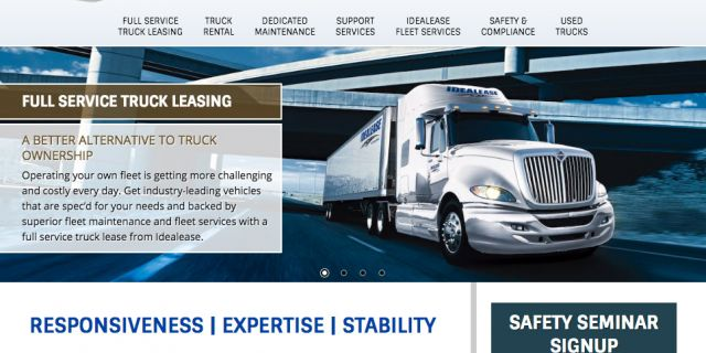 Idealease Trucking & Transportation Website Redesign Example