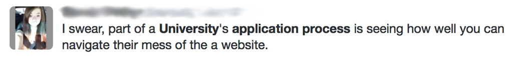 Tweets About Naviagting the Complicated Online University Application Experience