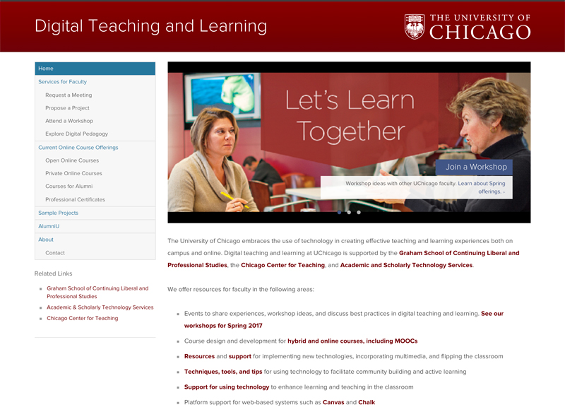 University of Chicago - Higher Education Website Example Using Drupal