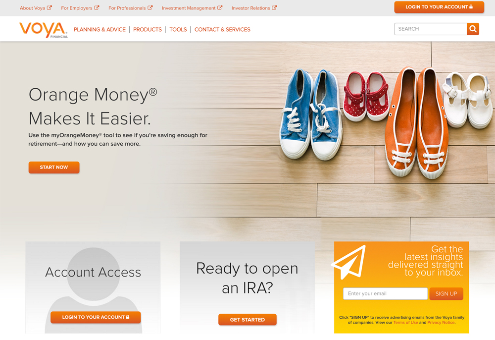 Voya Financial Company & Drupal Banking Website Example