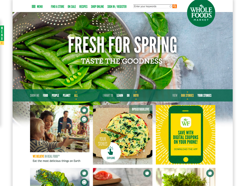 Whole Foods - Grocery Store Using Drupal For their Marketing Website